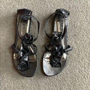 Dark silver sandals size 10